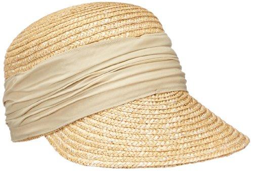 Seeberger Damen Damenstrohcap Sonnenhut, Beige (leinen 93), Medium (Herstellergröße: Orig)