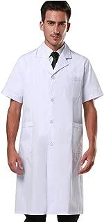 Men's White Lab Coats Doctor Workwear - Unisex Lab Coat Scrubs Adult Uniform