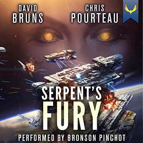 『Serpent's Fury: A Space Opera Noir Technothriller』のカバーアート