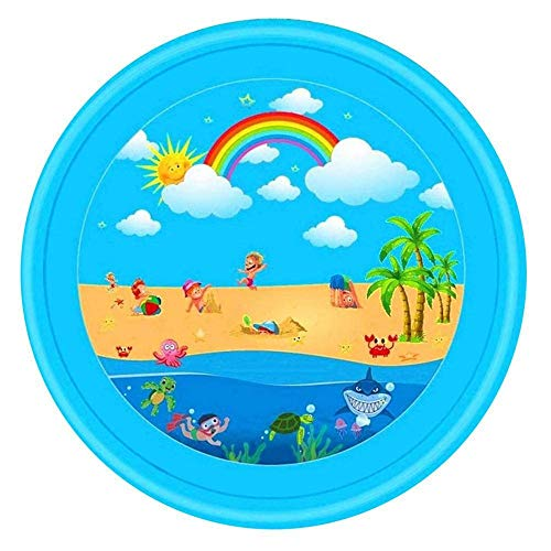Colchoneta para niños Sprinkle and Splash, Inflable Splash niños de riego del cojín Trasero Juego Mat Guata Piscina Exterior de Agua Azul Juguetes Jardín de Agua de Juguete de los niños
