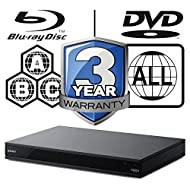 Plays Blu-ray Discs from Zones A, B & C Plays DVDs from Regions 1-8 4K Ultra HD Blu-ray Playe Dolby Vision High-Resolution Audio from any source