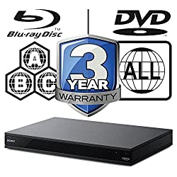 REGION FREE VERSION - NO RESTRICTIONS: PLAYS BLURAY REGION A, REGION B, & REGION C & PLAYS standard DVDs from ANY REGIONS 0, 1, 2, 3, 4, 5, 6, 7, 8 4K HDR; Dolby True HD / DTS-HD / Dolby digital / True HD / Dolby Atmos / DTS:X UBP-X800 region free bl...