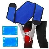 Knie Kühlkissen Gel kühlpads für Knie Heiße Kalte Therapie - Ideal für Knie Gelenkschmerzen, Schwellung, Meniskusriss, Rheumatoide Arthritis, Bur
