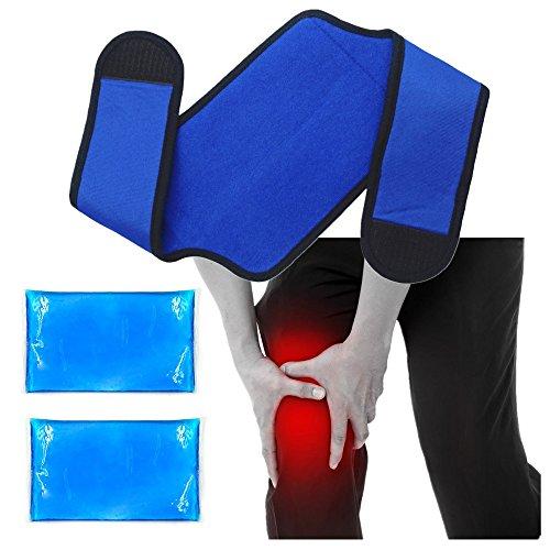 Impacco di gel di ghiaccio riutilizzabile per impacchi al ginocchio con impacco - Sollievo dal dolore per dolori alle articolazioni del ginocchio, gonfiore, artrite reumatoide (8'x 5,5')