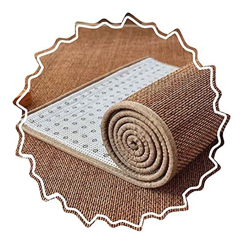 WENZHE Bambus Gewebter Teppich Bambusteppich, Robuster Rutschfester Teppich, Benutzt für Wohnzimmer Erkerfenster Schlafzimmer, Dicke 2cm, Anpassbare Größe (Color : A, Size : 50x100cm)
