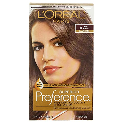 L'Oreal Superior Preference - 6 Light Brown (Natural) 1 Each (Pack of 2)
