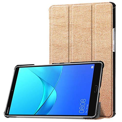 Hülle für Huawei MediaPad M5 8.4 Zoll Schutzhülle Tablet Smart Cover mit Auto Sleep/Wake, Standfunktion und Touchpen Gold