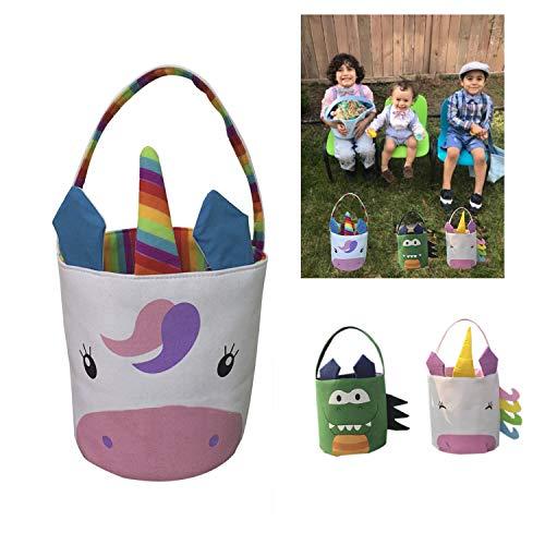 Easter Basket Easter Bag for Kids Easter Hunt Bag Gift Toy Bucket Tote (#1)