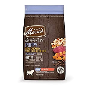 Merrick 38569 Grain Free Dry Puppy Food Real Chicken & Sweet Potato Recipe – 22.0 Lb Bag