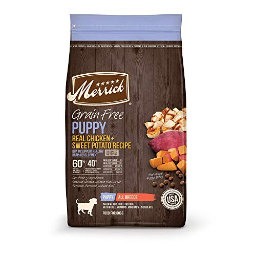 Merrick 38569 Grain Free Dry Puppy Food Real Chicken & Sweet Potato Recipe - 22.0 Lb Bag