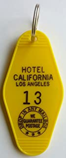 """Hotel California""""YOU CAN CHECK OUT ANYTIME"""" #13 Inspired Key Tag"""