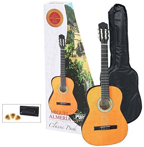 GEWApure Konzertgitarre Almeria Classic Pack 4/4 Gitarre honigfarbig getönt
