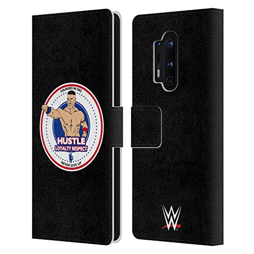 Head Case Designs Officially Licensed WWE HLR Fist John Cena Leather Book Wallet Case Cover Compatible with OnePlus 8 Pro