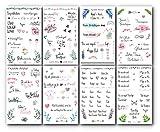 Trust-Shop Gästebuch Hochzeit Sticker - 176 Hochzeit Sticker/Aufkleber Hochzeit auf 8 Seiten für die perfekte Gästebuch oder Fotoalbum Gestaltung/Scrapbooking Stickers Vintage