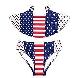 Traje de baño de 2 piezas traje de baño bikini USA 4 julio Set - - X-Large