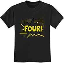 TeeStars - Four! Superhero Fourth Birthday - 4 Years Old Gift Idea Kids T-Shirt