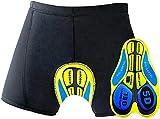 OKBONN Calzoncillos Ropa Interior Ciclismo Pantalones Interiores Ciclismo Pantalones Cortos y Ligeros con 3D Gel (5D)