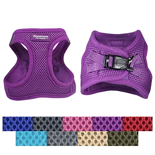 Downtown Pet Supply No Pull, Step in Adjustable Dog Harness with Padded Vest, Easy to Put on Small, Medium and Large Dogs (Purple, XS)