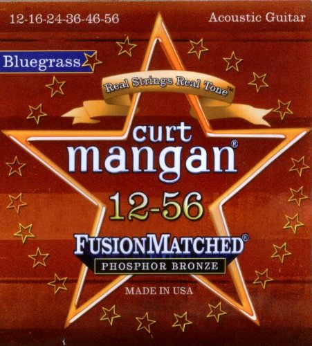 Curt Mangan Fusion Matched Phosphor Bronze Bluegrass Acoustic Strings (12-56)