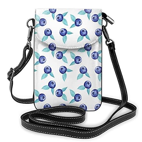 Blueberry Sac à main en cuir avec bandoulière pour téléphone portable