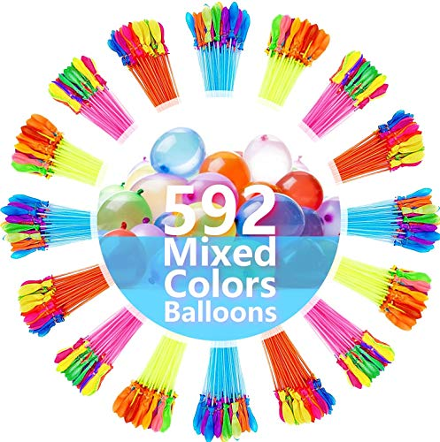 FEECHAGIER Water Balloons for Kids Girls Boys Balloons Set Party Games Quick Fill 592 Balloons for Swimming Pool Outdoor Summer Fun LPO9
