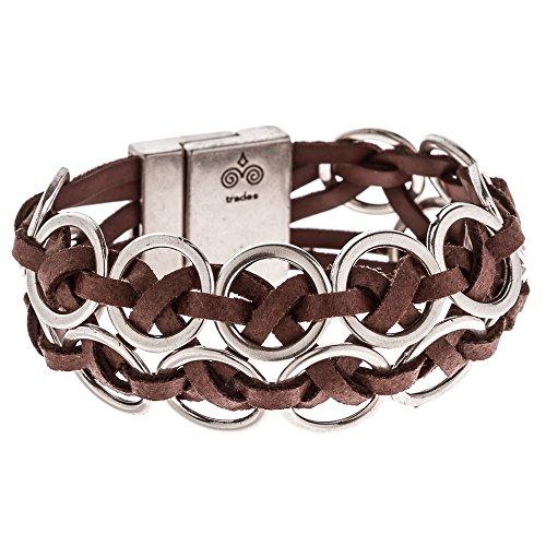 Trades by Haim Shahar Lindi Pulsera de cuero cierre magnético hecho a mano en España anillos