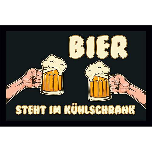 Bedruckte Fußmatte - Bier steht im Kühlschrank! - in 3 Größen, Größe der Fußmatte:50 x 70 cm