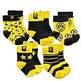 Borussia Dortmund BVB-Kleinkindersocken (5er-Pack) Socken, Gelb, 22-24