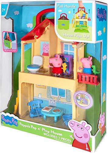 Peppa Pig Playset Casita Plegable en Forma de Maleta con Figuras de Peppa y George