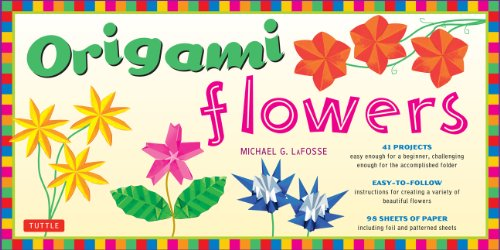 Origami Flowers [With 98 Sheets of Paper]: Fold Lovely Daises, Lilies, Lotus Flowers and More!: Kit with 2 Origami Books, 41 Projects and 98 Origami Papers