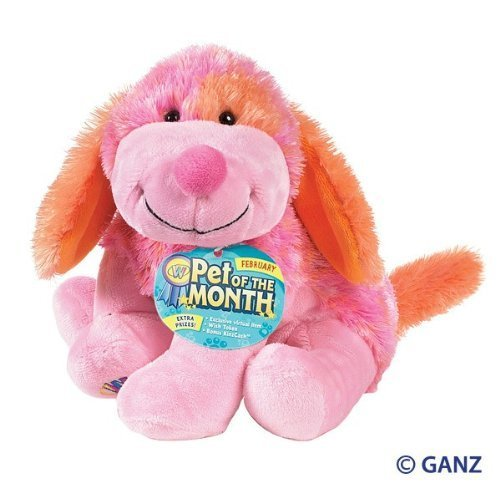 Webkinz Pink Punch Cheeky Dog February Pet of the Month