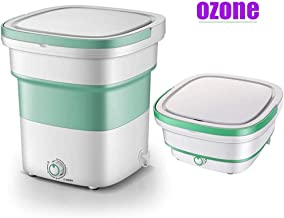 Mini Foldable Washing Machine, Ultrasonic Sterilization Portable Washing Machine Automatic Portable Underwear Folding Wash...