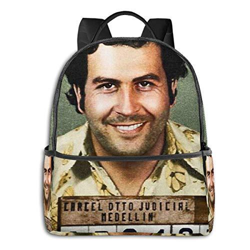 Pablo Escobar - Mochila escolar para estudiantes, ciclismo, ocio, viajes, camping, al aire libre