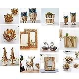 FLAMEER 250g / Pack Natürliche Treibholz Holz Stücke Unfertige Naturholz Handwerk Bastelstäbe Platz Stäbe Sticks Holzstäb - Stick, 12-13 cm - 3
