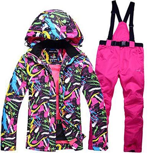 WPJ Traje de Esquí Traje de Mujer Invierno al Aire Libre Tablero Individual Tablero Doble Impermeable, a Prueba de Viento, Grueso y Cálido. Traje de Chaqueta y Pantalón de Esquí