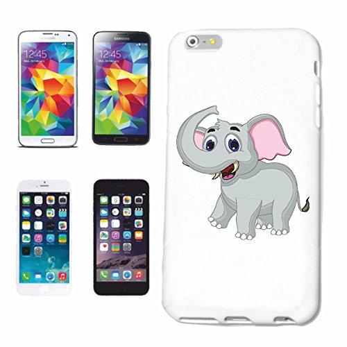 Reifen-Markt Hard Cover - Funda para teléfono móvil Compatible con Samsung Galaxy S7 Edge Sweet Little trompa de Elefante Africano Animal Elefante asiático Elefant