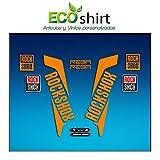 Ecoshirt I1-DUEB-78RO Pegatinas Horquilla Fork Rockshox Reba 2016 Am33 Stickers Aufkleber Decals Adesivi Bike BTT MTB Cycle, Naranja 29'