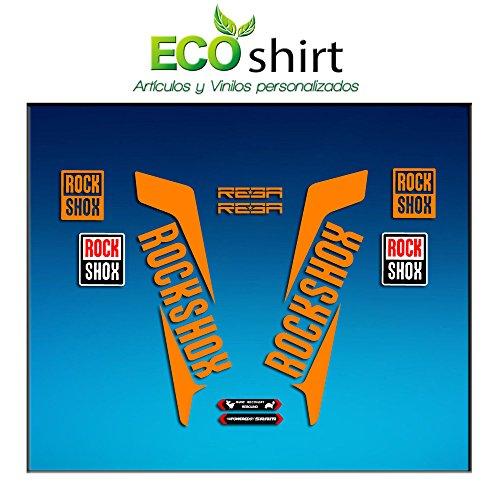 Ecoshirt I1-DUEB-78RO Aufkleber Gabel Fork Rockshox Reba 2016 Am33 Sticker Decals Sticker Bike BTT MTB Cycle Orange 29 Zoll