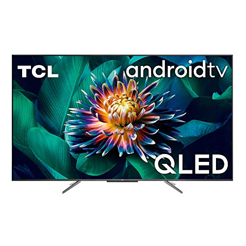 TCL, 65C711, 65 pollici QLED TV, 4K Ultra HD, Smart TV con sistema Android 9.0 (HDR 10+, Micro dimming, Dolby Vision-Atmos), Controllo Vocale Hands-Free, Design ultra sottile in alluminio e senza bord