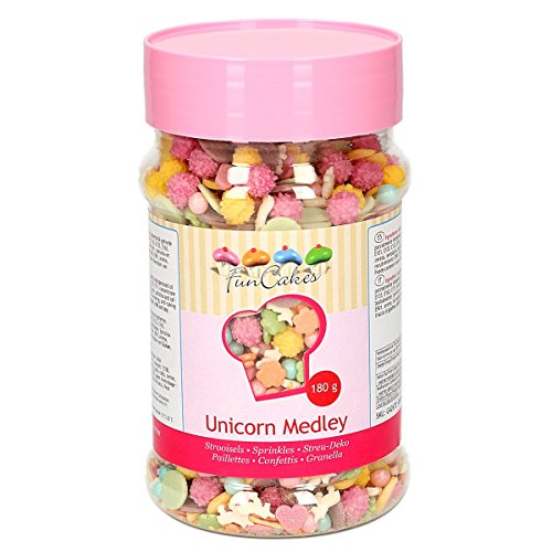 FunCakes Funcakes Sprinkles Medley Mezcla De Decoraciones De Azúcar De Temática Unicornio 180 g