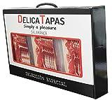 DELICATAPAS - Maletín Paleta Curada Gran Reserva Loncheada 1,2kg + Huesos troceados 480g
