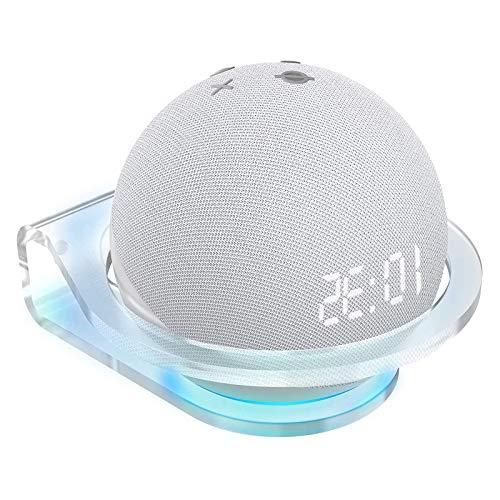 Kovake Soporte Montado en la Pared para el Nuevo Altavoz Inteligente Echo Dot (4.ª Generación) | Soporte de Pared de Acrílico Transparente