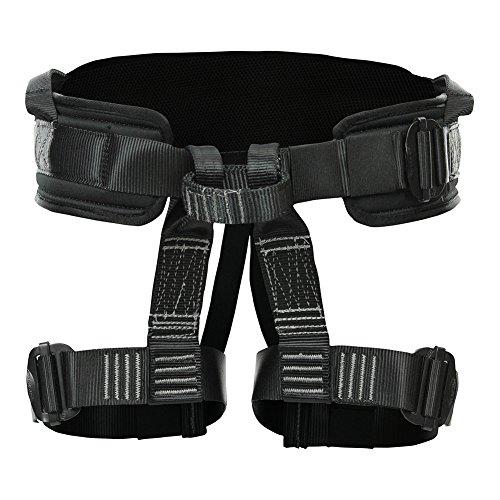 Fusion Climb Teka Tactical Padded Half Body Adjustable Bungee Dance Zipline Harness Nylon Gear Loop 23kN M-XL Black