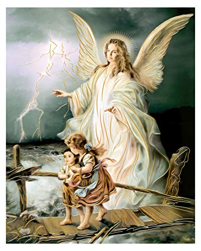 Guardian Angel (16'X20') - Religious Wall Art Print Poster