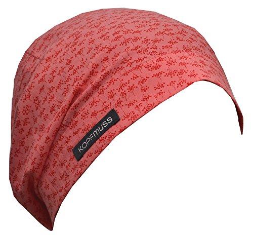 Kopfmuss - Unisex Übergangsmütze KoSG1244 - M, risben Flamingo/rot