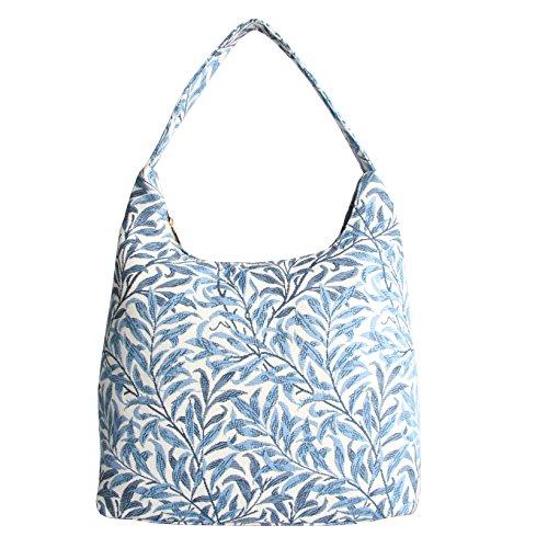 Signare Tapestry Arazzo Arazzo Borsa a Tracolla Donna, Borse Tote per Donne, Hobo bags con William Morris Designs (Willow Bough)