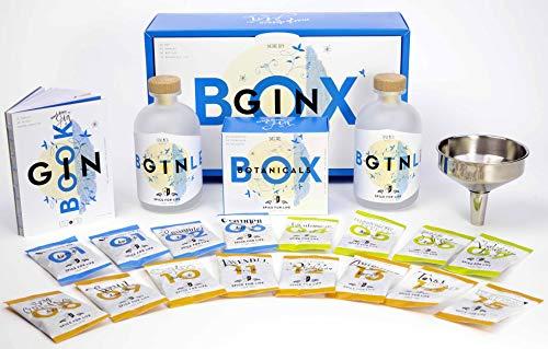 Spice for Life DIY GIN BOX Geschenk Set zum Selber Machen   15 Gin Botanicals inklusive Gin Rezept Buch und Zubehör   Das coole Geschenk für Männer und Frauen   Gin-Set Geschenkbox   Flavor Tasting