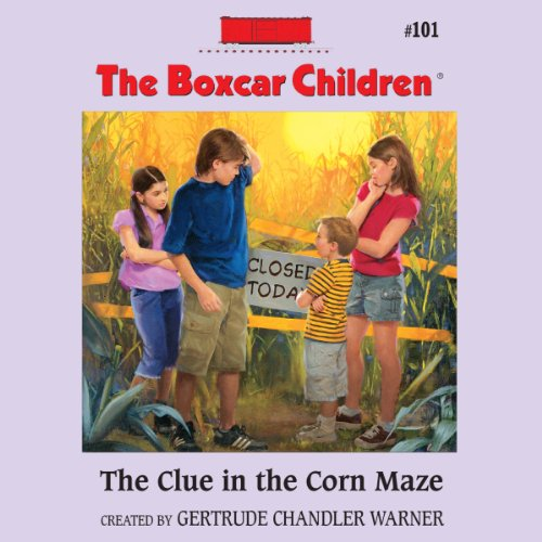 The Clue in the Corn Maze audiobook cover art