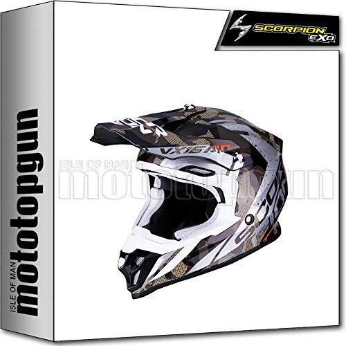 Fibre de Carbone Protection UV Anti-Brouillard Masque Frange Scorpion Plein Visage Casque Motocross Locomotive Dot Casque certifi/é,S CAXIJUN Casque de Moto Predator Cool
