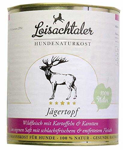 Loisachtaler Jägertopf Premium Nassfutter Hund Karotten Kartoffeln 24 x 800g